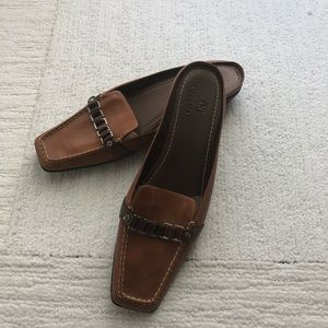Cole Haan Nikeair Brown Leather Mules-Size 7 1/2 B